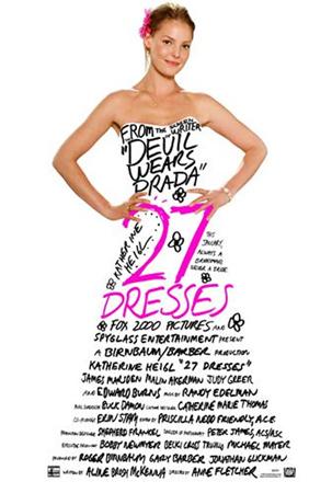 «27 vestidos» un filme protagonizado por Katherine Heigl