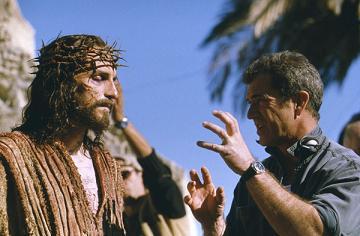 Mel Gibson durante la filmación de