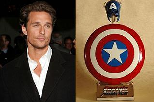 Matthew McConaughey podría ser el Capitán América