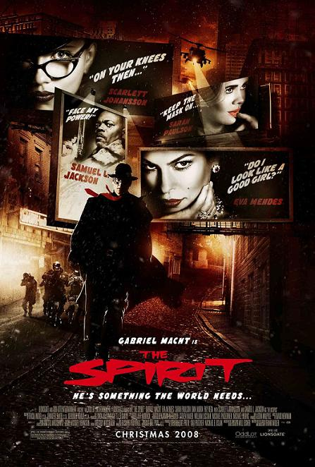 "Poster final, o eso dicen, de ""The Spirit"""