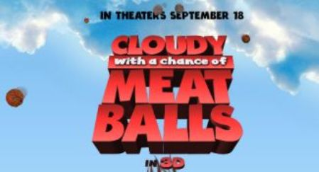 "Trailer de la película de animación ""Cloudy With a Chance of Meatballs"", con Bill Hader, Anna Faris y James Caan"