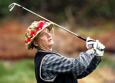 Peligro: Bill Murray jugando al golf