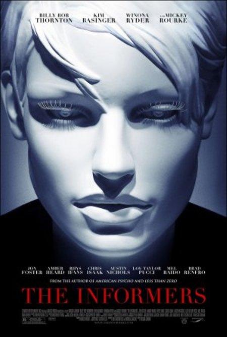 """Trailer online de la película """"The Informers"""", con Mickey Rourke, Billy Bob Thornton, Kim Basinger y Winona Ryder"""