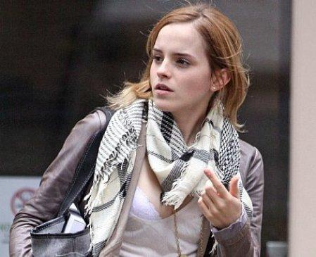 Emma Watson: el viento, la cámara y el sostén