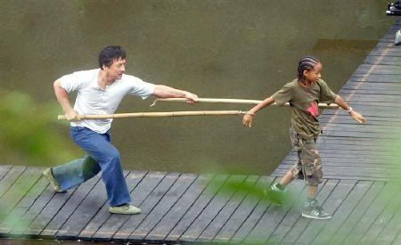 Primeras fotografías de la remake de 'Karate Kid', protagonizada por Jackie Chan y Jaden Smith