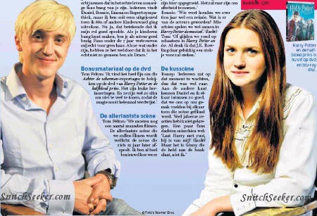Tom Felton (Draco Malfoy) y Bonnie Wright (Ginny Weasley) hablan sobre el final de Harry Potter