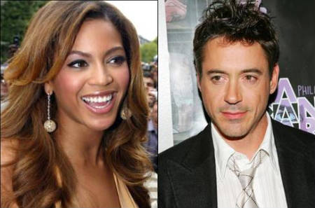 Beyonce Knowles & Robert Downey Jr.