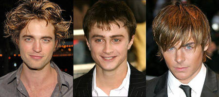 Robert Pattinson - Daniel Radcliffe - Zac Efron