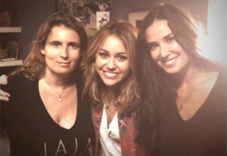 Lisa Azuelos, Miley Cyrus & Demi Moore