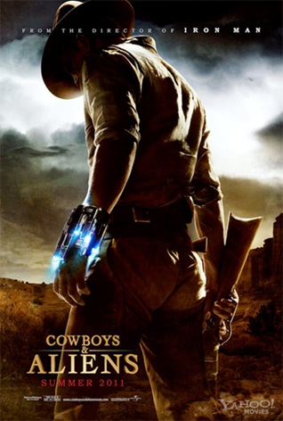 Poster de 'Cowboys and aliens'