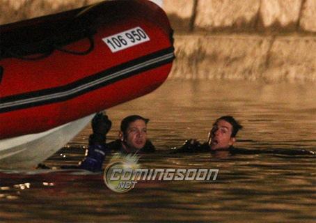 Tom Cruise fotografiado durante el rodaje de 'Misión imposible 4'