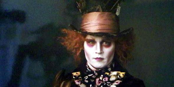"""Johnny Depp como """"el sombrerero loco"""": en la línea Tim Burton"""