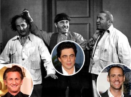 Benicio Del Toro, Jim Carrey y Sean Penn, los tres chiflados