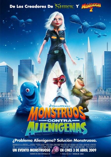 Trailer online de la película «Monstruos Contra Alienígenas», estreno 3 de abril