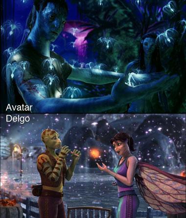 'Avatar' y 'Delgo', parecidos razonables