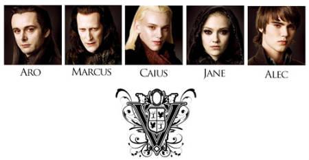 Primer imagen de los miembros del clan Volturi de «Luna Nueva»