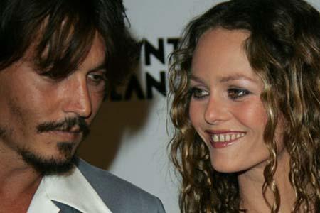Johnny Depp y su novia Vanessa Paradis juntos en My American Lover