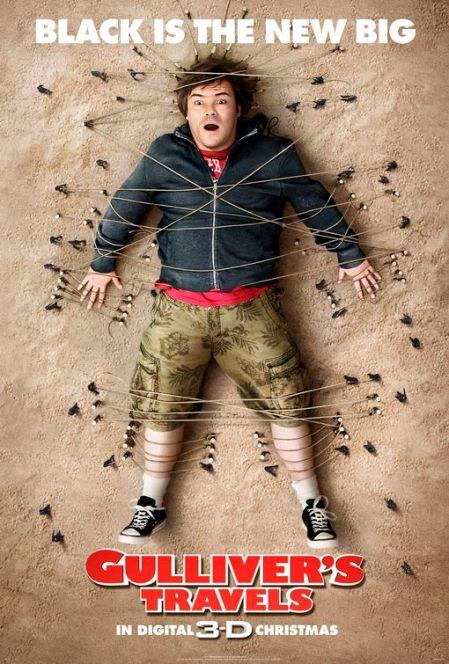 Los viajes de Gulliver, primer cartel con el actor Jack Black