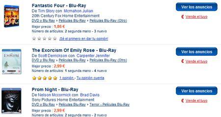 PriceMinister, películas en Blu-ray y de terror a precio de rebajas