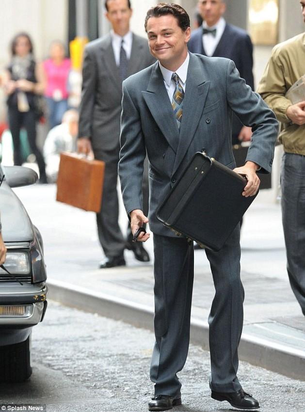 Leonardo Dicaprio convertido en un lobo de Wall Street