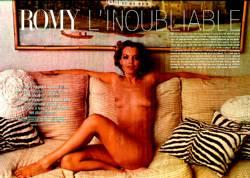 A 25 años de su muerte, exhiben fotos de Romy Schneider desnuda